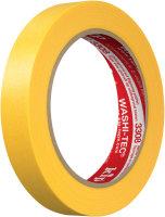 Kip 3308-18 WASHI-TEC Premium Plus Tape yellow 18mm x 50m