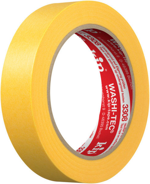 Kip 3308-24 WASHI-TEC Premium Plus Tape yellow 24mm x 50m
