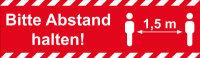 """Kip 339-50 PVC Warnband """"Abstand halten"""" rot 50mm x 66m"""