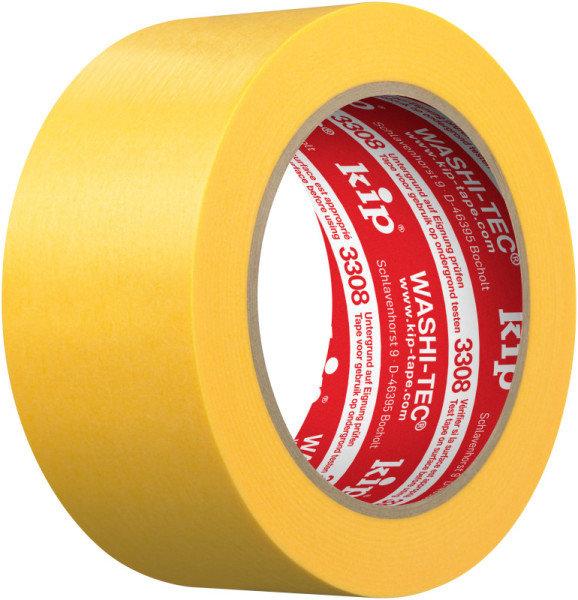 Kip 3308-48 WASHI-TEC Premium Plus Tape yellow 48mm x 50m
