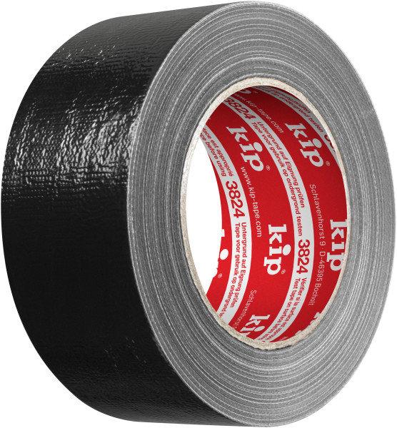 Kip 3824-51 Gewebeband schwarz 50mm x 50m