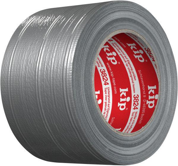 Kip 3824-75 Gewebeband silber 75mm x 50m