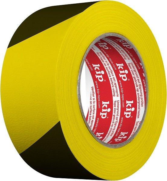 Kip 3824-90 Gewebe-Markierungsband gelb/schwarz 48mm x 33m